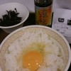 朝の早い親父が、朝に卵ごはん